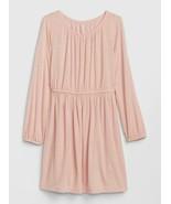 GAP Kids Girl Pink Silver Polka Dot Knit Lined Long Sleeve Round Neck Dr... - $26.72