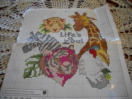 Life's A Zoo Counted Cross Stitch Kit - $12.00