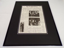 New York Times Jan 21 1981 Framed 16x20 Front Page Poster Ronald Reagan ... - $79.19