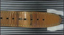 SWATCH Watch Brown Leather Straps Swiss Made 22 Jewels Wristwatch Chrono Men's image 4
