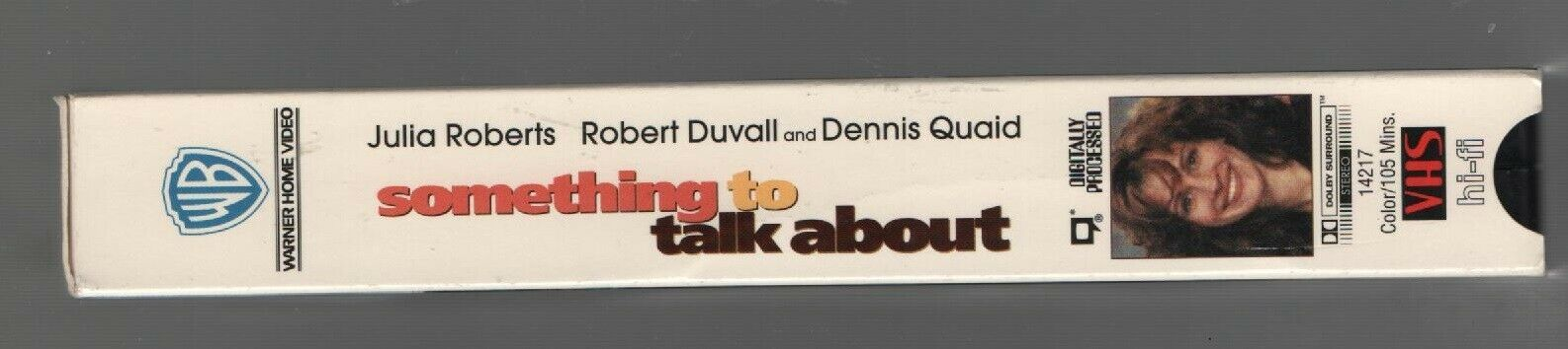 Something to Talk About - Julia Roberts, Robert Duvail - Warner Bros - VHS 14217 image 3