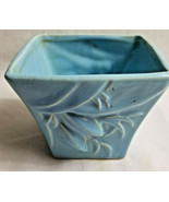 """McCoy USA Pottery Planter Vase Container Light Blue 4"""" Tall Collector - $28.95"""