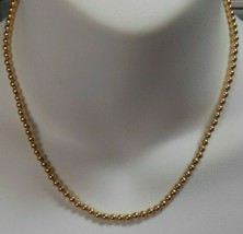 Vintage Trifari Gold-tone Bead Necklace - $23.75