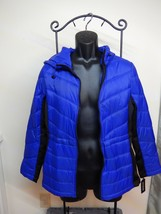 NEW MEDIUM GUESS Los Angeles womens DOWN Insulated Quilted Blue JACKET P... - $59.39
