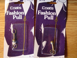 Set of Two Fashion Zipper Pulls NIP - $4.99