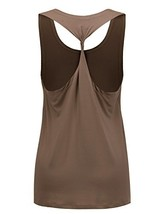 Regna X NO Bother Women's Sleeveless Boat Neck Sport Active Gym Yoga Tan... - $18.08