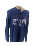 NFL Team Apparel Men's Henley New York Giants Blue Size XL - $12.95