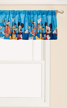 Disney Mickey Mouse Playground Pals Window Valance, Blue - $25.48