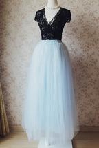 SKY BLUE Plus Size Tulle Maxi Skirt Something Blue Wedding Bridesmaid Skirts NWT image 2