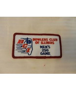 Bowlers Club of Illinois Men's 250 Game Patch from the 90s Red Border - $7.43