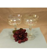 Opalescent Champagne Glasses Stemware One Pair of 2 - $12.99