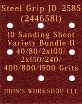 Steel Grip JD-2585 - 40/80/100/150/240/400/800/1500 - 10 Sheet Variety B... - $12.46