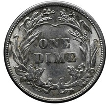 1915 Silver Barber Dime 10¢ Coin Lot# A 246 image 2