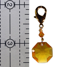 Crystal Octagon Zipper Pull - Color Varies image 3
