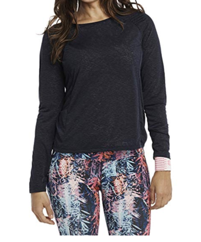 Large 12 Women's CARVE Designs Mercer Long Sleeve Shirt Top Anchor NEW
