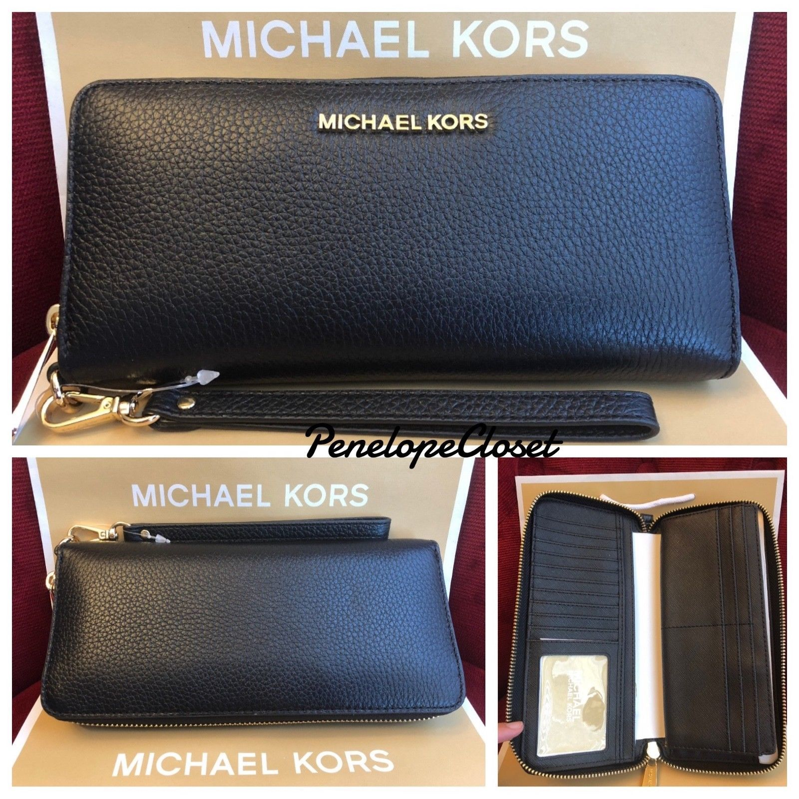 Nwt Michael Kors Pebbled Leather Jet Set and 50 similar items