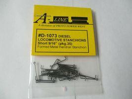 """A-Line # D-1073 Diesel Locomotive Stanchions Short 9/16""""  Pack 35 HO Scale image 3"""