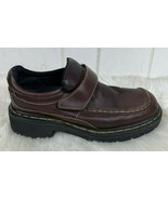 Dr Martens Loafers Size 9 Shoes 9288 Monk Strap Brown Leather Air Cushioned Sole - $74.20