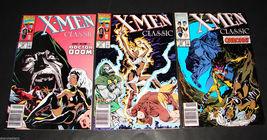 3 1990 Marvel Comics X-MEN CLASSIC 49 VF, 51 VF, 53 F Comic Books - $11.69