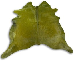 Dyed Green Cowhide Rug Size: 7' X 6.5' Dyed Green Cowhide Skin Rug C-040 - $296.01