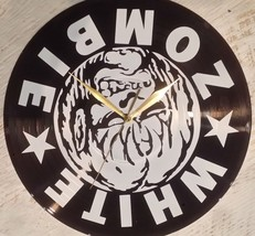 DIY WHITE ZOMBIE Decorative Designed Modern Vinyl Record Wall Clock Sile... - $23.74