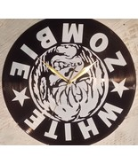 DIY WHITE ZOMBIE Decorative Designed Modern Vinyl Record Wall Clock Sile... - $23.74