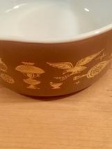 Vintage 60s Pyrex 1qt casserole - Early American pattern #473 image 4