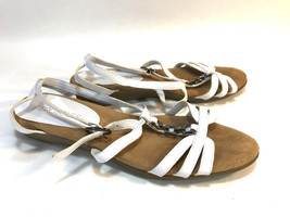 AEROSOLES white strappy comfort wedge sole summery sandals 7.5 FREE SHIP... - $16.78