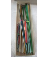 Mixed Lot 15 Pairs Vintage Knitting Needles 4 Pins 11 Vintage Crochet Ho... - $38.12