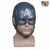 USA Captain America Helmet Costume Latex Cosplay  Horror Scary Mask Halloween - $17.80