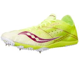 Saucony Endorphin LD4 Women's Running Spikes Shoe Citron/White/PInk, Siz... - £30.13 GBP
