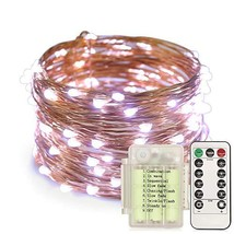 150 LED String Lights, 8 Modes Battery Operated Flexible Copper Wire Lig... - $14.96
