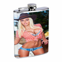 Cuban Pin Up Girls D4 Flask 8oz Stainless Steel Hip Drinking Whiskey Santa Baby - $12.82