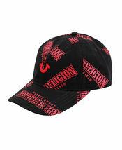 True Religion Men's TR All Over Repeat Pattern Logo Cap Sports Strapback Hat image 5