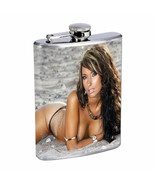 Finland Pin Up Girls D8 Flask 8oz Stainless Steel Hip Drinking Whiskey - $13.81
