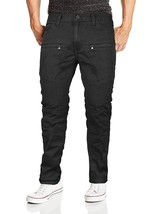 Lavish Society Men's Distressed Quilted Moto Slim Fit Denim Jeans image 2