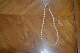 """Vintage Monet off-white faux pearl necklace - 18"""". - $6.99"""