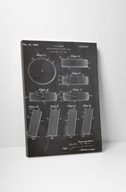Hockey Puck Patent Print Gallery Wrapped Canvas Print - $44.50+