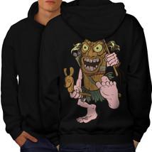 Animated Hunter Sweatshirt Hoody Funny Men Hoodie Back - $20.99+