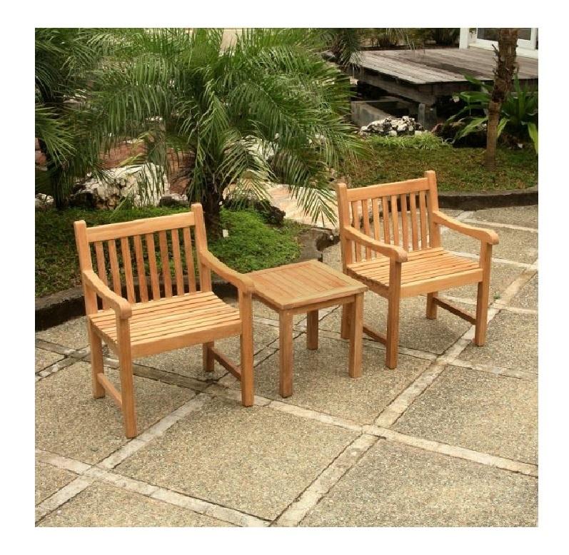 Teak Outdoor Wooden Armchair Table or Bench  Patio Garden Yard Deck Mix & Match