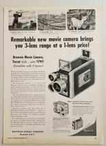 1955 Print Ad Kodak Brownie Movie Camera Turret 3 Lenses Rochester,NY - $11.66