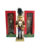 Lot of 3 Kurt Adler Wooden Nutcrackers Christmas Holiday Decoration Dec... - $37.36