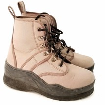 Caddis Northern Guide Wading Shoes Ecosmart II Sole Size 6 Beige - $18.49