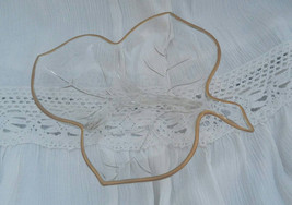 Glass Leaf Jewelry Dish or Candy Dish, Vintage - $5.00