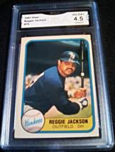 1981 Fleer Reggie Jackson GMA Graded 4.5 VG-EX+ baseball card number 79 - $9.99