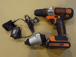 BLACK & DECKER MATRIX & ATTACHMENT CHARGER 1 BATTERY GREAT USED BDCDMT120C  - $64.99