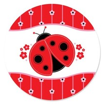 Happy Little Ladybug - Baby Shower or Birthday Party Circle Sticker Labe... - $13.99