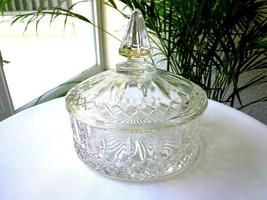 Vintage Indiana Glass Princess Pattern Covered Candy Bowl - $20.79