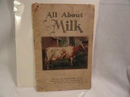 All About Milk Vintage Pamphlet - $2.49