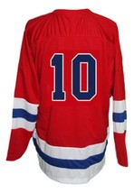 Custom Name # Seattle Ironmen Retro Hockey Jersey 1950 New Red Any Size image 2